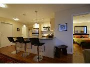 North east facing 2 bedroom corner suite with beautiful patio view